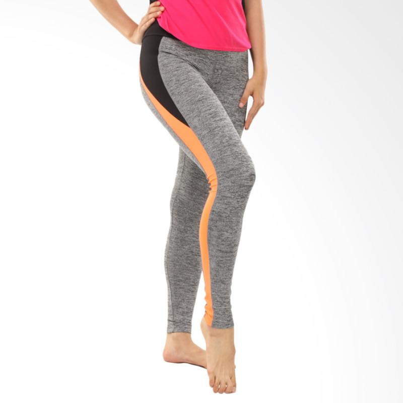 Forever 21 Inserted Celana Olahraga Wanita - List Orange Black Tight [F210021]