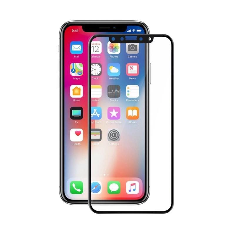 3T Tempered Glass Screen Protector for iPhone X - Black [Full Cover]