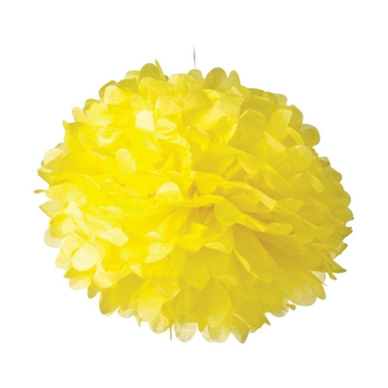 KUKUK PPK-LG02S Pom-Pom Kertas - Kuning [6 Pcs/ Large]