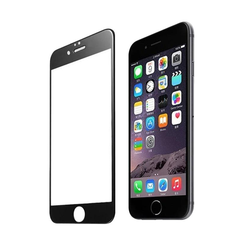 3T Tempered Glass Screen Protector for iPhone 8  Plus - Black [Full Cover]