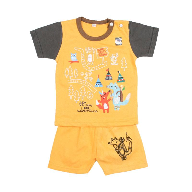 Harga UAKA BABY UK-412141 Oblong Setelan Baju Bayi Laki-laki - Kuning Murah