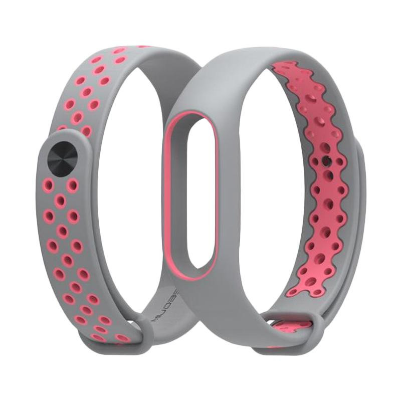 OEM Strap Sport for Xiaomi Mi Band 2 Oled Display - Grey Pink