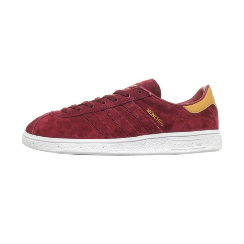 harga adidas Originals Munchen Sepatu Sneaker Pria - Burgundy [CQ1788] Blibli.com