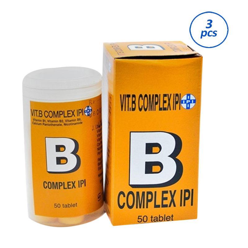 harga Ipi Vitamin B Complex Mutivitamin [50 Tablet/ 3 Tube] Blibli.com