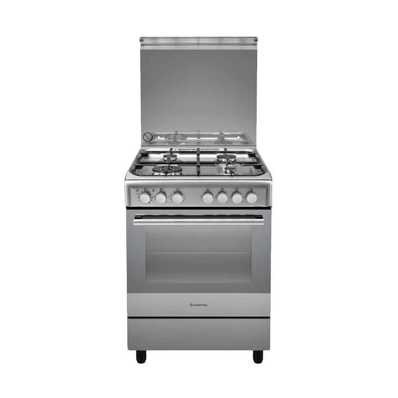 Ariston A6 TMH 2AF X Kompor Gas free Standing Cooker [Stainless steel]