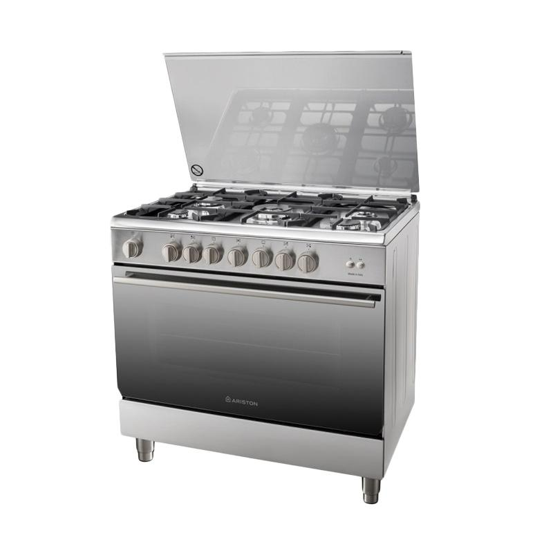 Ariston A9 GG1 F X Stainless steel Freestanding Cooker