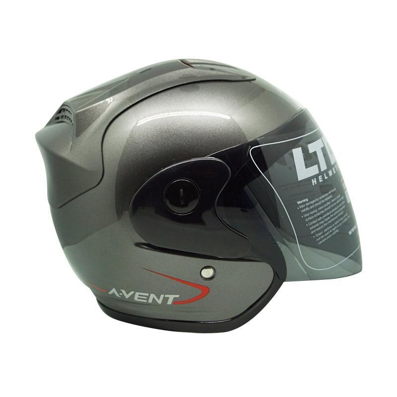 harga Helm LTD A-Vent Helm Half Face - Grey Metallic [Original] Blibli.com