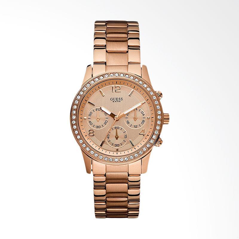 Ulasan Terbaru Guess W0122L3 Chronograph Jam Tangan Wanita - Rose Gold Dan Harganya