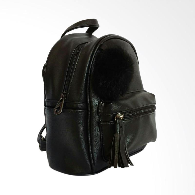 Jual Bodan 0930020553 Gantungan Bulu Fashion Tas Ransel Wanita - Black Online - Harga & Kualitas Terjamin | Blibli.com