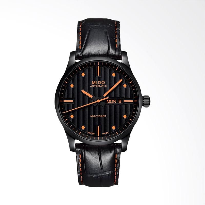 harga Mido Multifort Automatic Leather Strap Jam Tangan Pria - Black [M005.430.36.051.80] Blibli.com