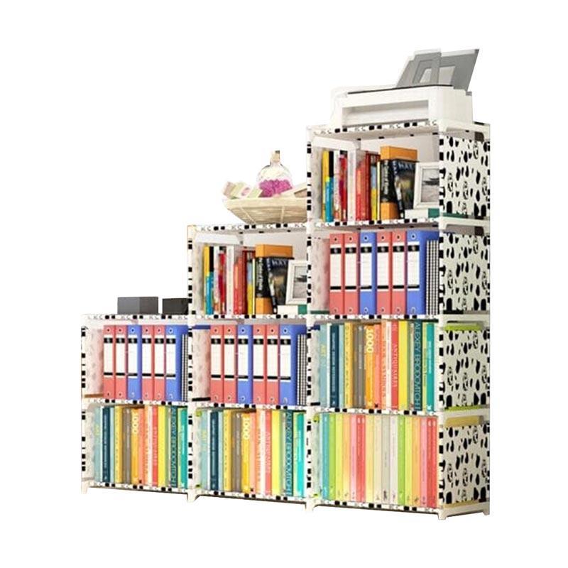 Jual Godric Triple 3 Sisi / Lemari Serbaguna 12 Layer 9 Ruang Susun Rak Buku Portable - Dalmatian [123 x 125 x 31 cm] Online - Harga & Kualitas Terjamin ...