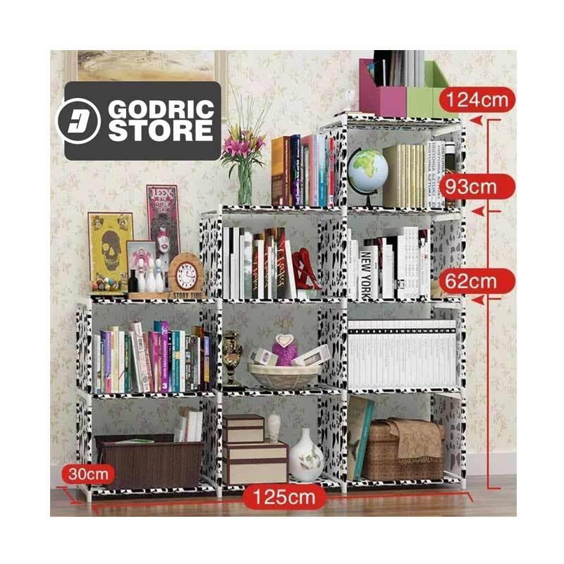 Rp 300,000. Rp 180,000 ( 40 %). Stok Tersedia. Deskripsi. Godric Triple 3 Sisi / Lemari Serbaguna 12 Layer 9 Ruang Susun Rak Buku Portable ...