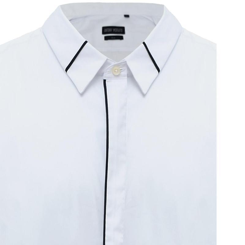 Antony Morato Shirt With Contrast On Collar Formal Lengan Panjang Pria