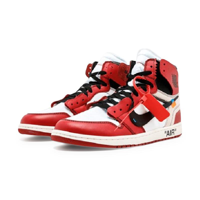 incredible prices excellent quality cheapest price NIKE Air Jordan 1 Chicago Sepatu Basket - Off White