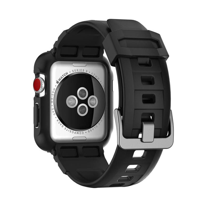 innovative design aec67 43e50 Spigen Rugged Armor Pro Softcase with Strap Casing for Apple Watch Series  3/2/1 44 mm