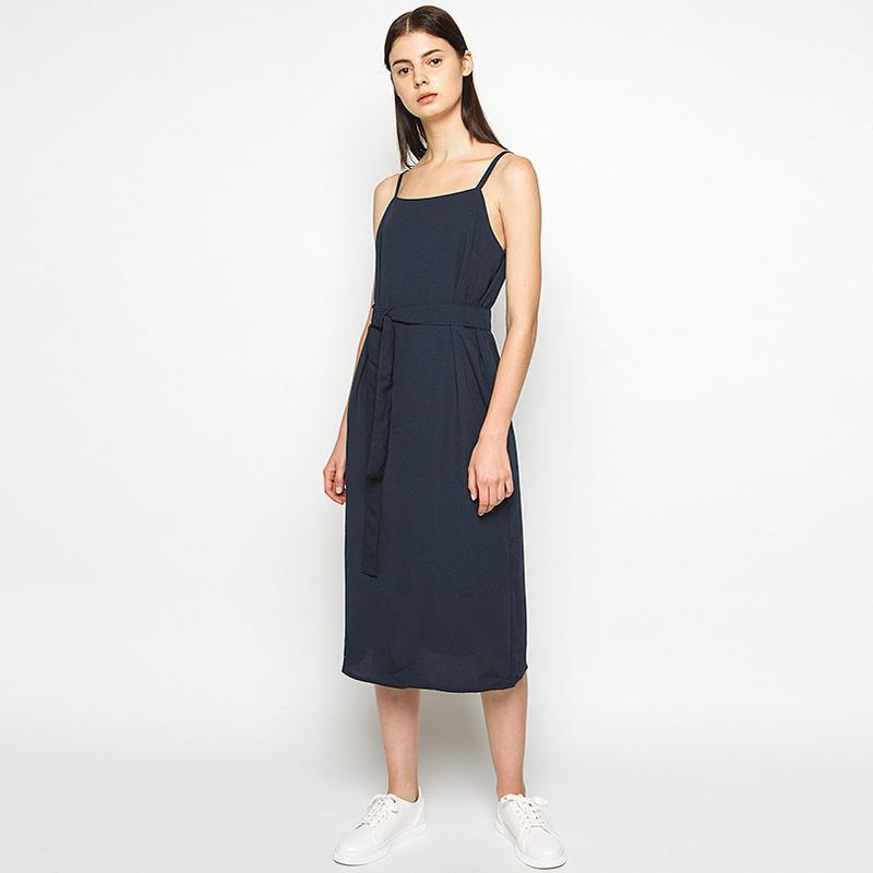 Cottonink Sonoya Midi Dress Navy