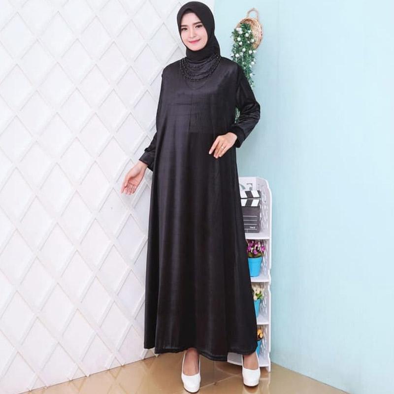 Jual Hitjab 7138 Baju Gamis Wanita Terbaru Gamis Jumbo Polos Online Maret 2021 Blibli