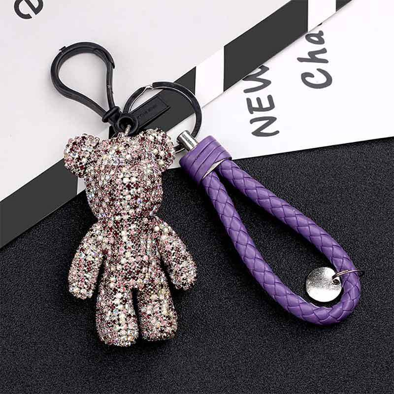 Exquisite Flashlight Keychain Night Light Keyring Torch Lamp Light For Gifts b