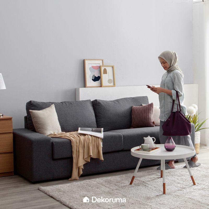 Jual Dekoruma Michi Kursi Sofa Ruang Tamu Minimalis 3 Seater Online Januari  2021 | Blibli