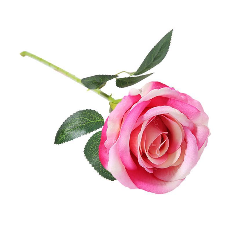 Jual Bluelans 1pc Artificial Rose Flower Diy Stage Party Wedding Home Decor Valentine Gift 9 Online November 2020 Blibli Com