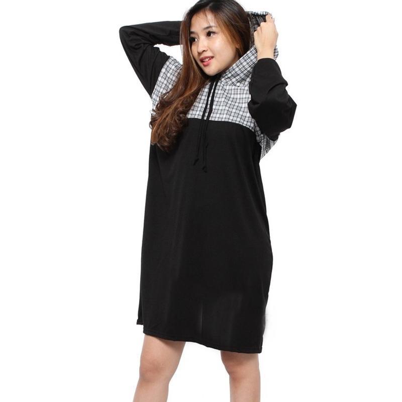 Rimas Hoodie Mini Dress Wanita