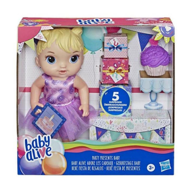 Jual Baby Alive Byae8719 Party Presents Baby Blonde Hair Doll Mainan Anak Online Desember 2020 Blibli