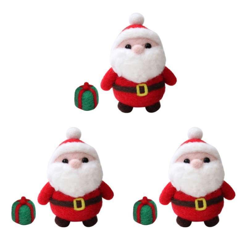 Jual Oem Diy Santa Claus Felt Making Kit Xmas Starter Needle Felting Supplies 3 Sets Online September 2020 Blibli Com