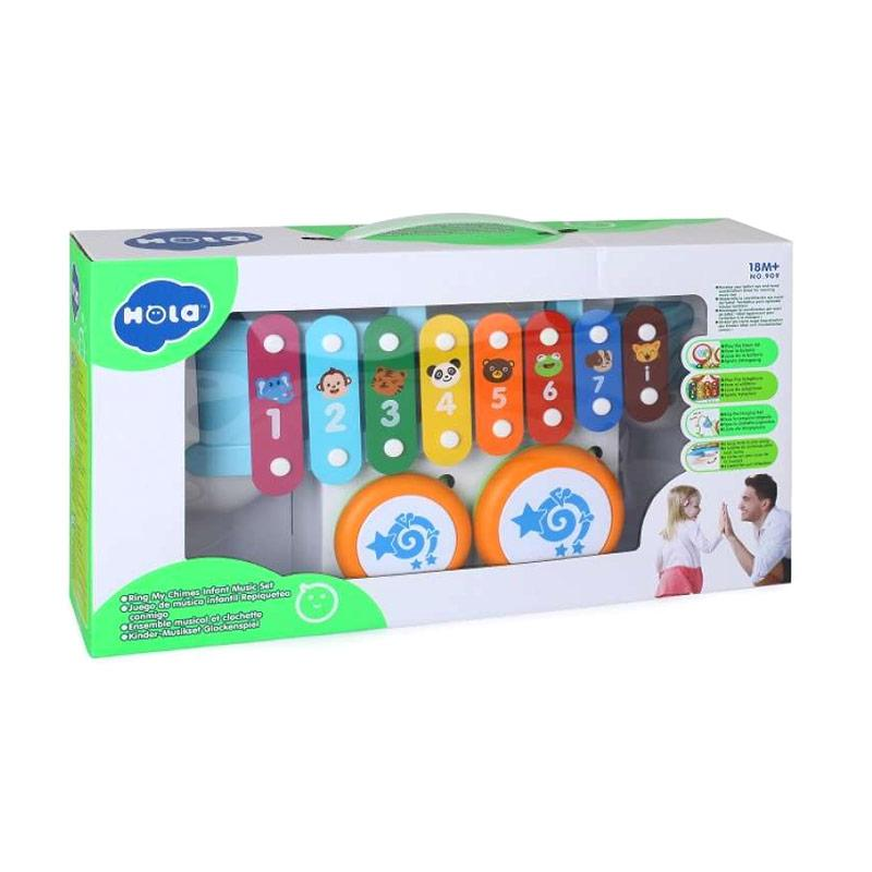 Hola Music Set Infant Ring My Chimes Mainan Bayi