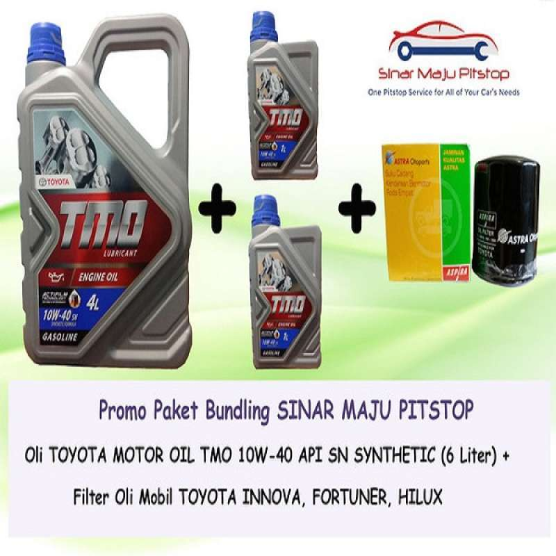 Jual Tmo 10w 40 Oli Mobil 6 L Filter Oli For Toyota Fortuner Or Toyota Fortuner Vrz Set Bundle Online Februari 2021 Blibli