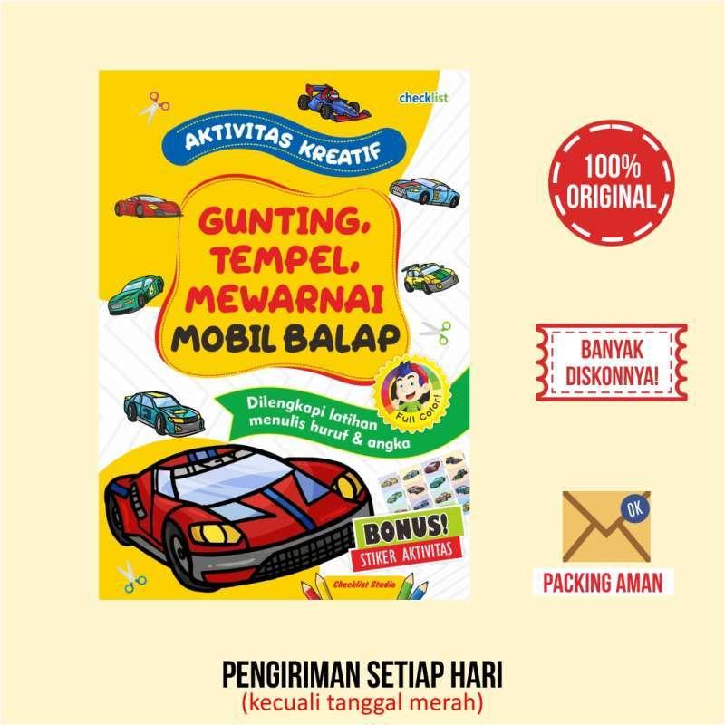 Jual Aktivitas Kreatif Gunting Tempel Mewarnai Mobil Balap Full Color Bonus Stiker Online September 2020 Blibli Com