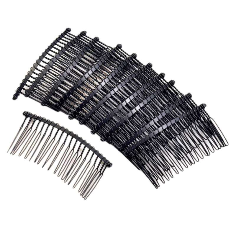 Details about  /10Pcs Metal Hair Comb Slide Side Combs Hair Clip Hair Jewelry Decor