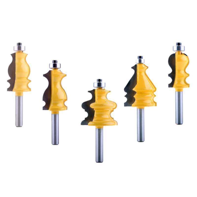 Jual 5pcs 8mm Schacht Behuizing Base Molding Router Bit Set Woodworking Tools Online September 2020 Blibli Com
