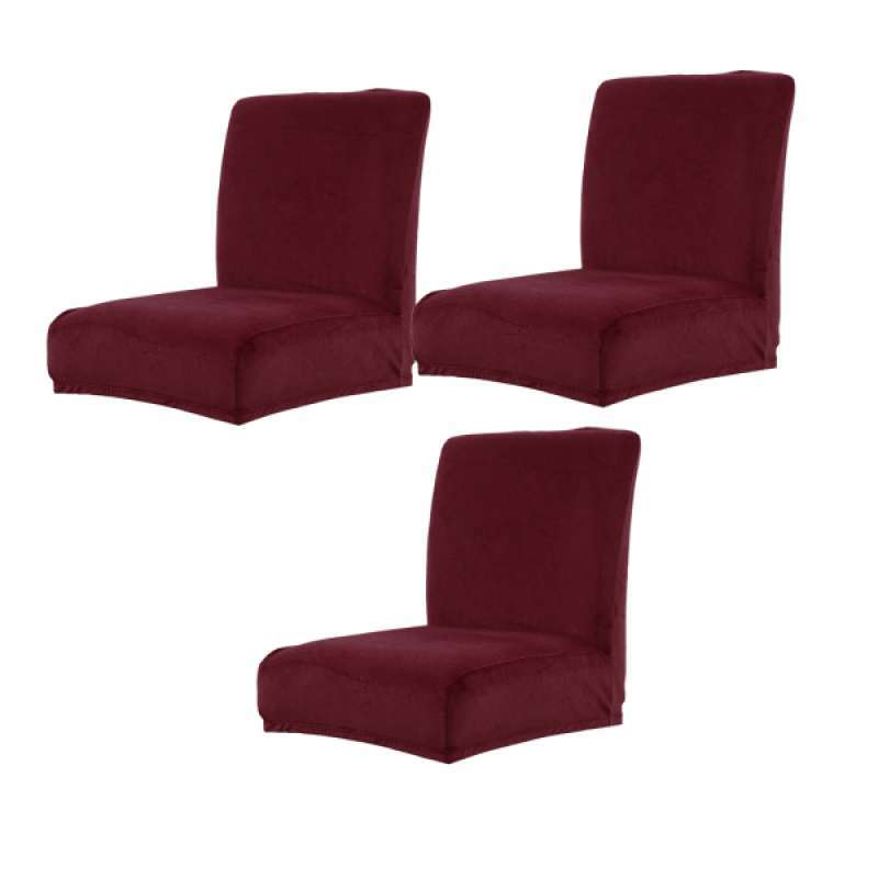Jual 3pcs Dining Chair Seat Covers Stretch Velvet Dining Chairs Seat Cover Removable Washable For Kitchen Dining Room High Chairs Online Februari 2021 Blibli