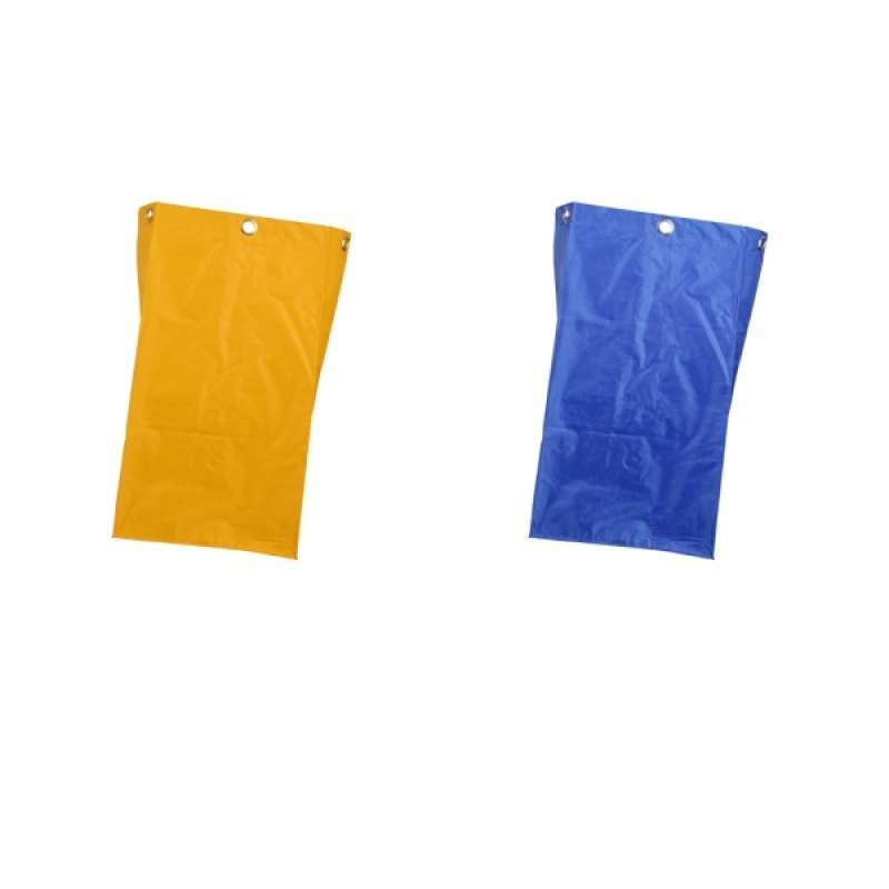 Waterproof Housekeeping Hotel Janitorial Cleaning Cart Bag Yellow Blue 2pc