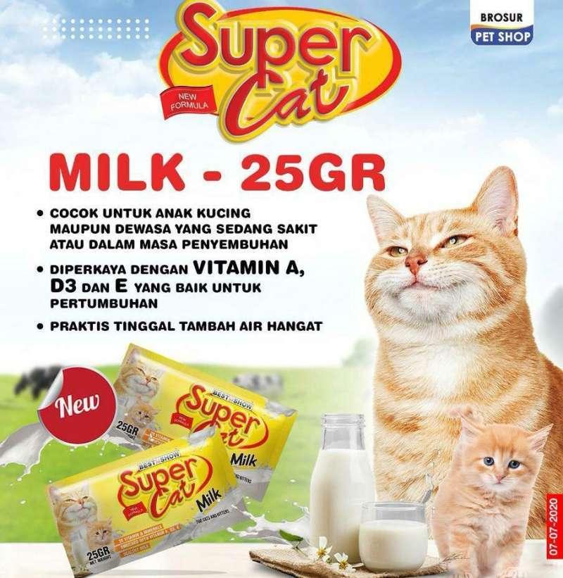 CM PETSHOP Best In Show Supercat Milk Sachet Susu Bubuk Kucing