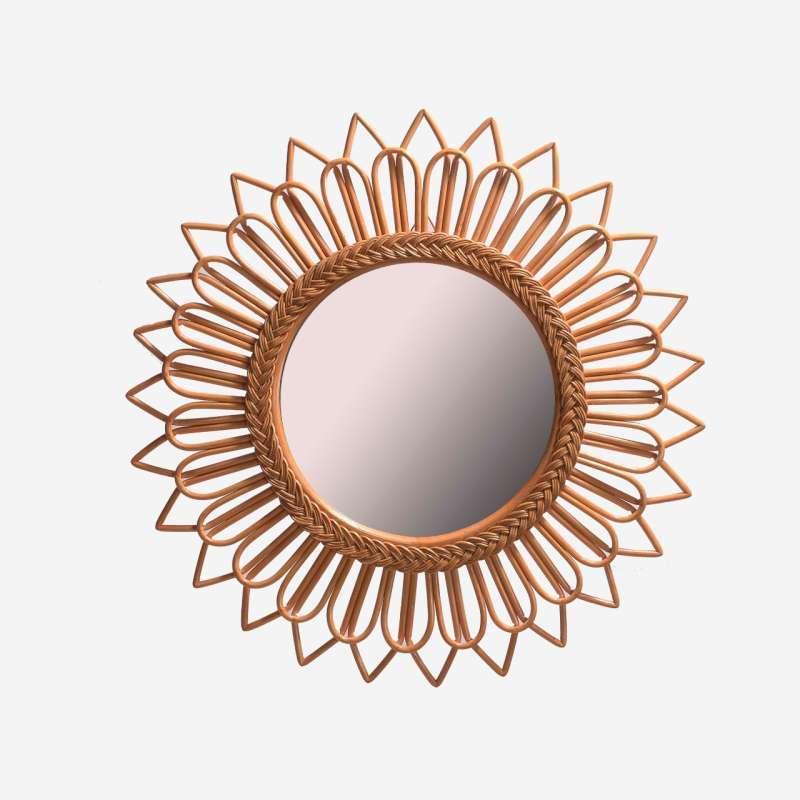 Cermin Rotan Cantik Hias