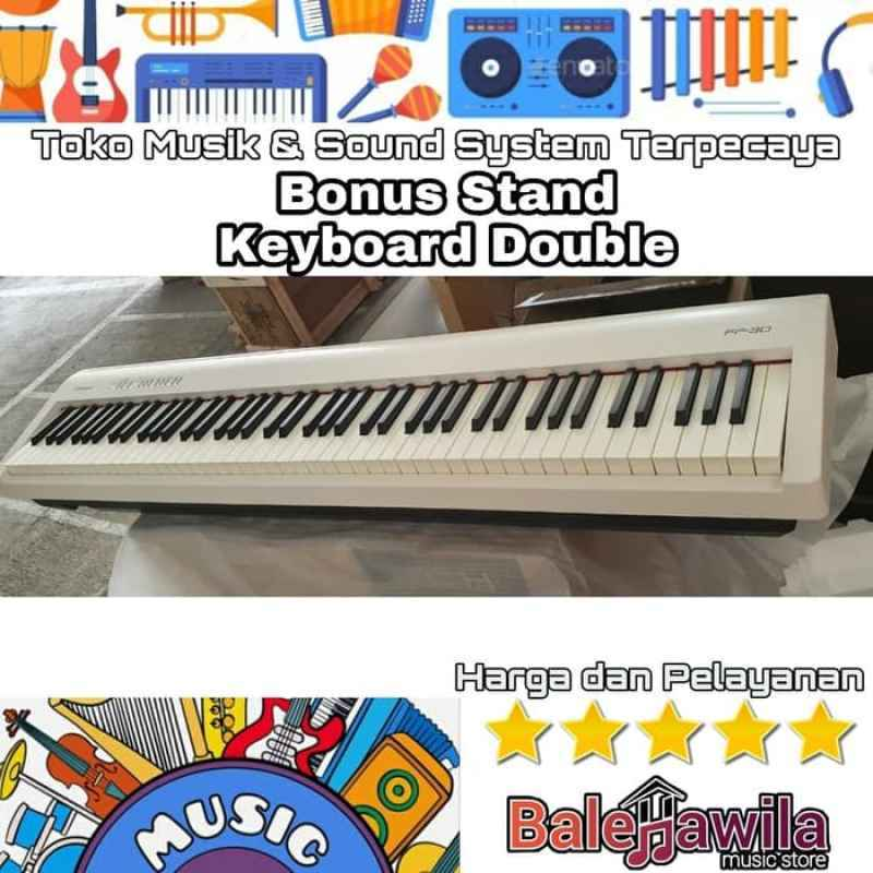 Jual Digital Piano Roland Fp 30 Fp30 Bonus Stand Keyboard Double Original Roland Fp 30 Digital Piano Free Stand Keyboard Original Online November 2020 Blibli Com