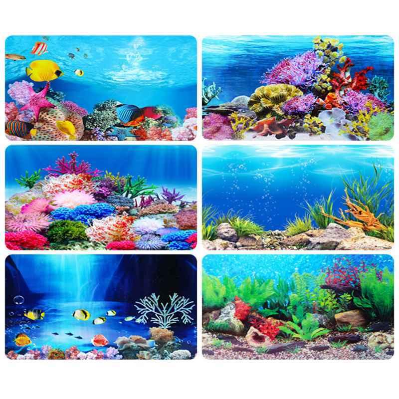 Jual Bluelans Aquarium Background Poster Ocean Self-adhesive Fish Tank  Backdrop Sticker Décor 40x62cm Terbaru Juni 2021 | Blibli