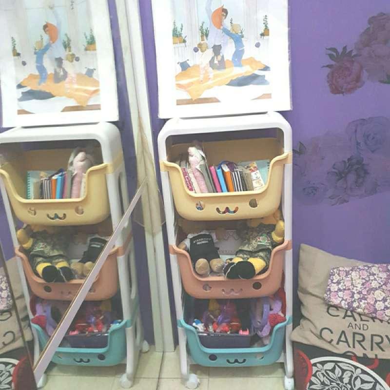 Jual Rak Penyimpanan Mainan Anak Rak Roda 3 Susun Rak Dapur Rak Toilet Online Februari 2021 Blibli
