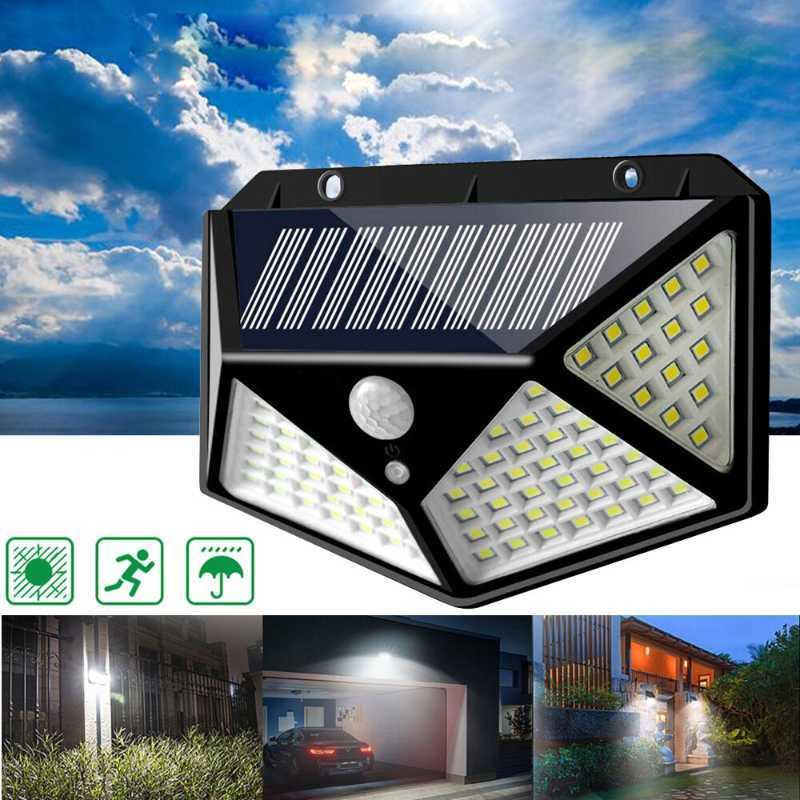 Jual Lampu 100 Led Tenaga Surya Matahari Solar 3 Mode Sensor Lampu Dinding Tembok Taman Outdoor Online April 2021 Blibli