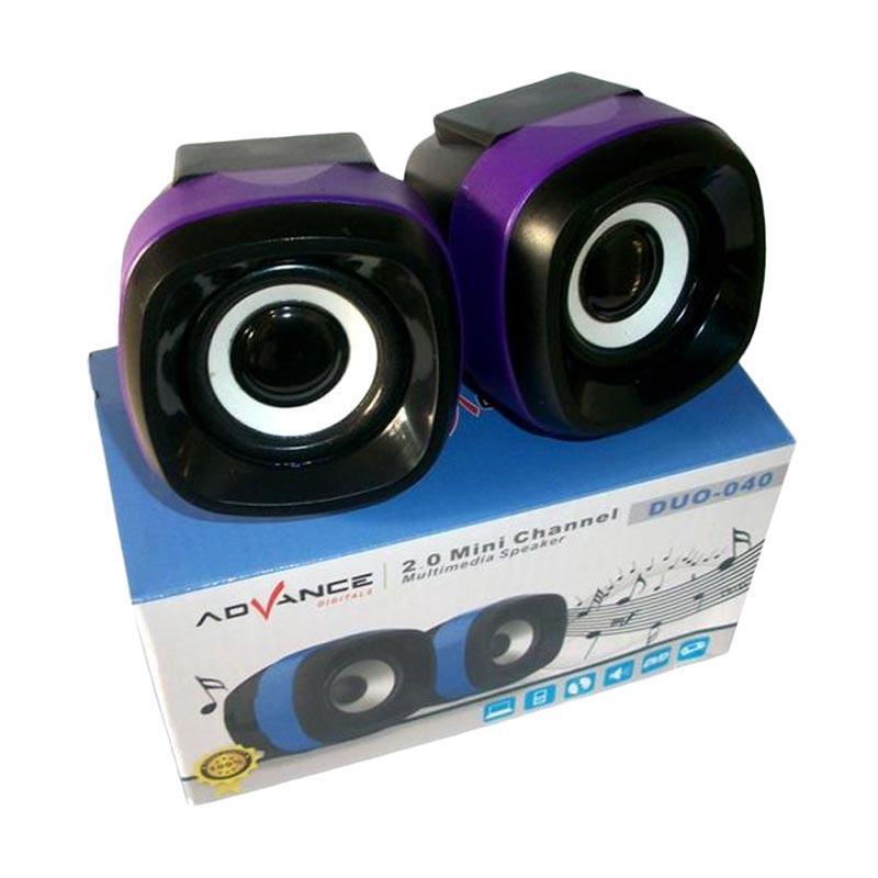 Jual Advance Duo-040 Speaker Komputer USB - Ungu Online - Harga & Kualitas Terjamin | Blibli.com