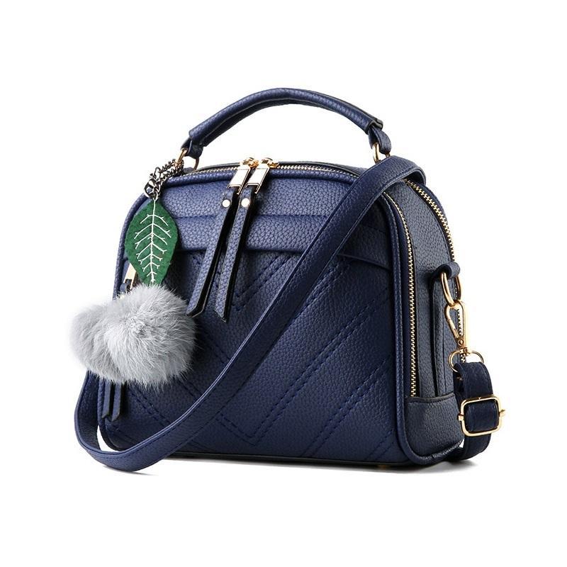Annies Fashion De Fourrure Tas Wanita - Dark Blue