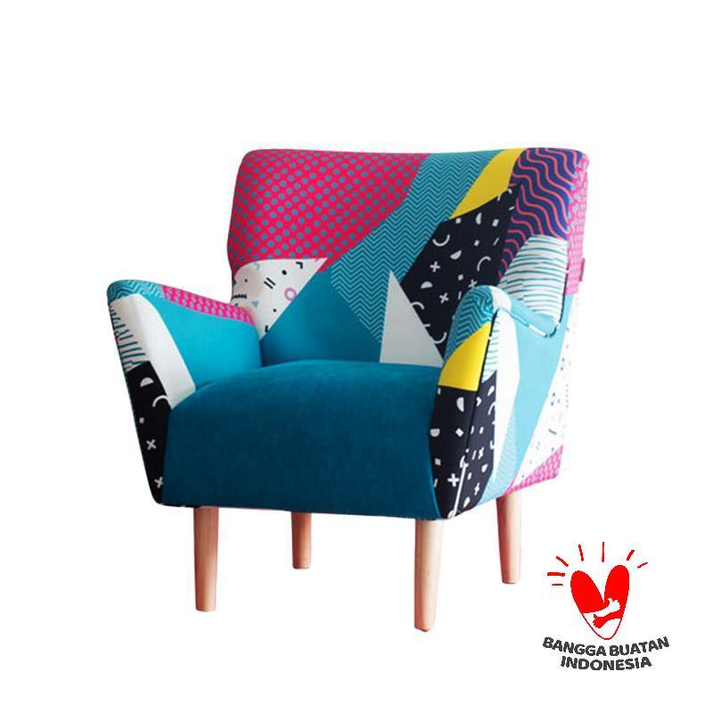 Antik Mebel Bluemingdale Arm Chair - Blue