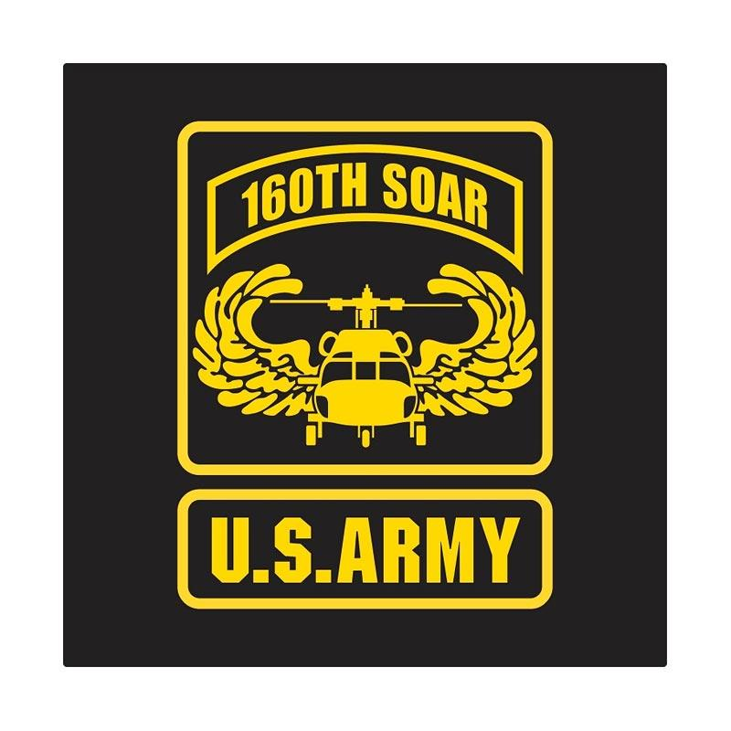 Kyle US Army 160 S.O.A.R Wing Badge Cutting Sticker