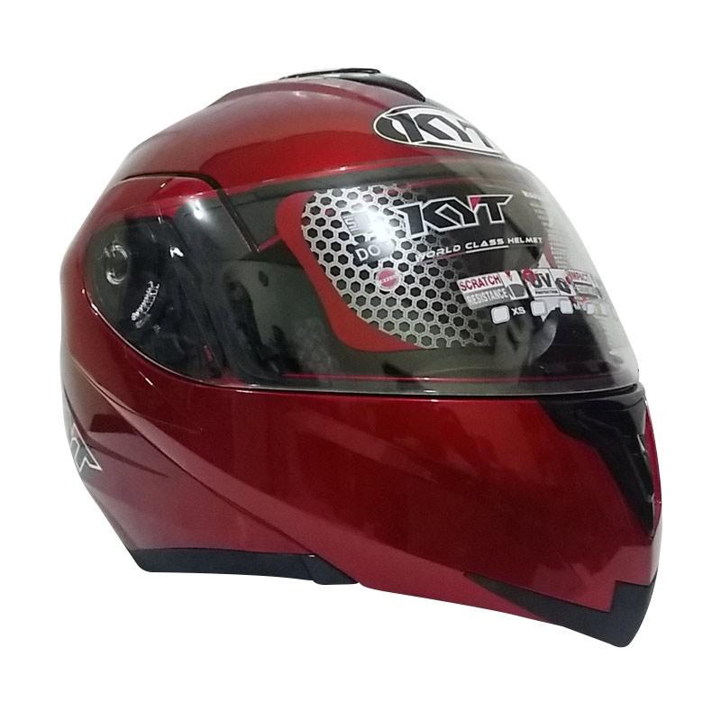 harga KYT RRX Helm Modular - Red Marron Metalik Blibli.com