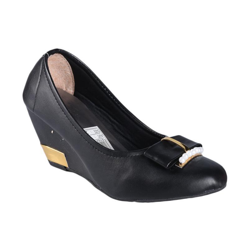 Vanilla Sepatu SN-121 Wedges Wanita - Hitam