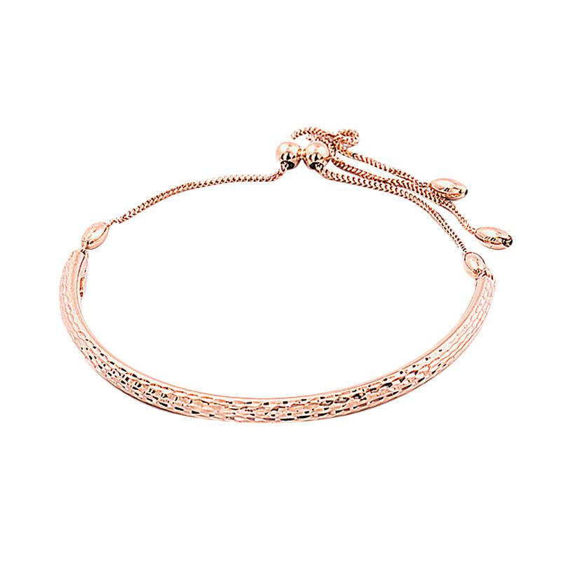 Curve  Gelang Emas Kadar 75 - Gold Bracelet-WHIZLIZ