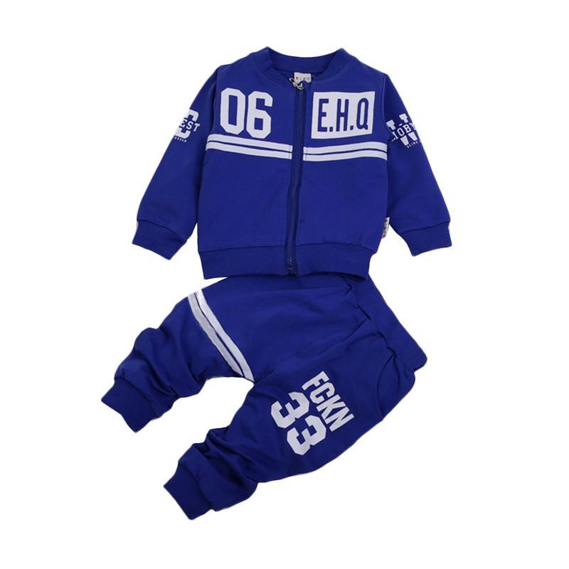 Chloe Babyshop F972 EHQ Setelan Baju Anak - Blue
