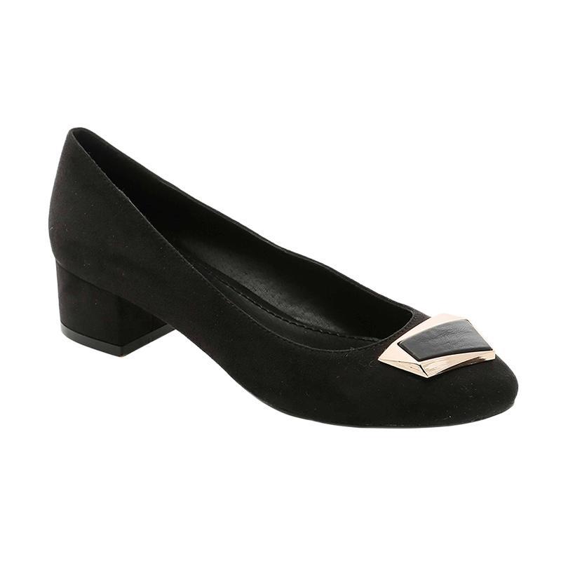 GatsuOne Shelley 1 Mid Low Heels - Black