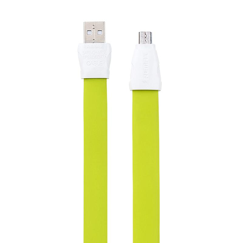 Remax Full Speed Data Line 2 Micro USB Data Cable - Green